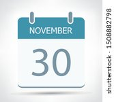 november 30   calendar icon  ... | Shutterstock .eps vector #1508882798