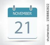 november 21   calendar icon  ... | Shutterstock .eps vector #1508882822
