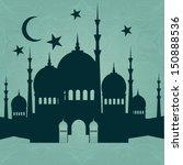 ramadan kareem background with...   Shutterstock .eps vector #150888536