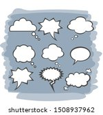 sketch dialogs cloud. set of... | Shutterstock .eps vector #1508937962