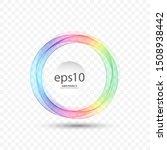 Rainbow Wavy Circle With...