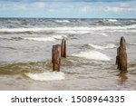 Baltic Sea With Wooden Wave...