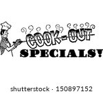 cook out specials   retro clip... | Shutterstock .eps vector #150897152