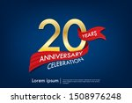 20th years anniversary... | Shutterstock .eps vector #1508976248