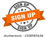 sign up label. sign up orange... | Shutterstock .eps vector #1508985638