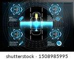 futuristic user interface. hud... | Shutterstock .eps vector #1508985995
