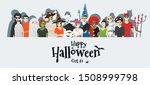 happy halloween   group of...   Shutterstock .eps vector #1508999798
