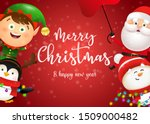 christmas postcard design with... | Shutterstock .eps vector #1509000482