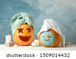 Funny pumpkins and skin care...