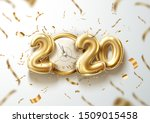 2020 new year holiday poster.... | Shutterstock .eps vector #1509015458