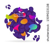 fluid organic colorful shapes.... | Shutterstock .eps vector #1509023138