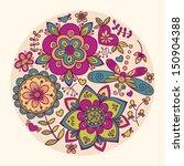 floral illustration | Shutterstock .eps vector #150904388