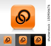 circles icon set. orange color...