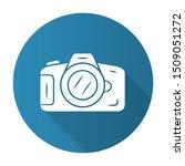 photo camera blue flat design... | Shutterstock .eps vector #1509051272