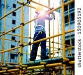 construction workers working on ... | Shutterstock . vector #150905192
