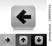 arrow icon set. gray color...