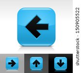 arrow icon set. blue glossy web ...