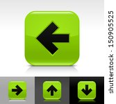 arrow icon set. green color...