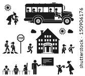 children go to school.... | Shutterstock .eps vector #150906176