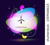 black wind turbine icon...   Shutterstock .eps vector #1509068615