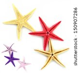 colorful starfishes isolated on ... | Shutterstock . vector #150907286