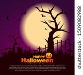 halloween fullmoon background... | Shutterstock .eps vector #1509082988