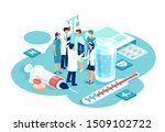teamwork in health care system... | Shutterstock .eps vector #1509102722
