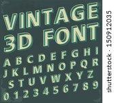 3d Retro Type Font  Vintage...