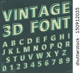3d retro type font  vintage... | Shutterstock .eps vector #150912035