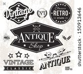 vector collection of vintage...