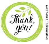 thank you card | Shutterstock .eps vector #150916295