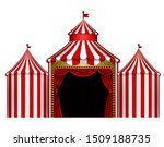 Isolated White And Red Circus...
