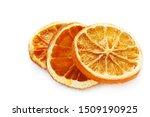 Dried Orange Slices Isolated O...