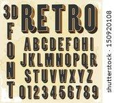 retro type font  vintage... | Shutterstock .eps vector #150920108