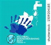 global handwashing day  vector... | Shutterstock .eps vector #1509204185