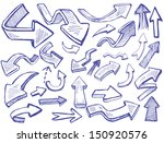 vector hand drawn arrows icons...   Shutterstock .eps vector #150920576