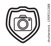 shield with photographic camera ... | Shutterstock .eps vector #1509211388