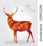 trendy christmas colorful... | Shutterstock .eps vector #150921296