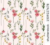 flower floral seamless pattern...   Shutterstock .eps vector #1509227678