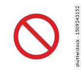 blank prohibition symbol for... | Shutterstock .eps vector #1509243152