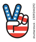 usa peace sign hand symbol   Shutterstock .eps vector #1509244292