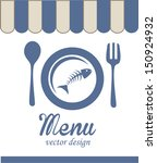 sea food design over white...