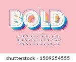 vector of stylized modern font... | Shutterstock .eps vector #1509254555