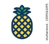 pineapple filled outline icon ... | Shutterstock .eps vector #1509261095