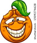 cartoon orange making a silly... | Shutterstock .eps vector #1509274628