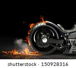 Custom Motorcycle Burnout On A...