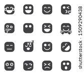 emoticon vector icons set ... | Shutterstock .eps vector #1509290438