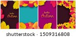 set of four backgrounds with... | Shutterstock .eps vector #1509316808