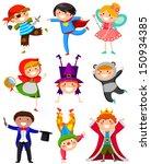 kids wearing different costumes  | Shutterstock .eps vector #150934385