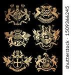 vintage heraldic coats of arms. ... | Shutterstock .eps vector #1509366245